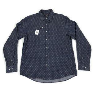 Michael Kors Mens Long Sleeve Button Shirt XL